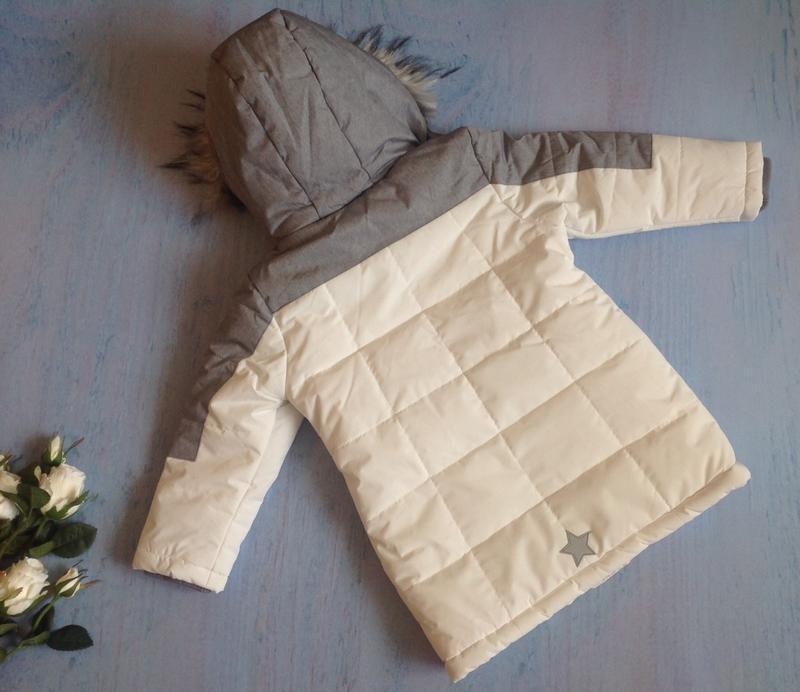 Зимняя куртка тм topolino topomini на 3 года рост 98 см - Фото 4