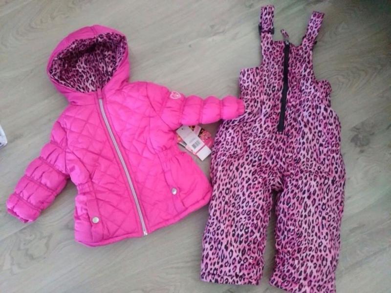 Комбинезон зимний комплект pink platinum на 12-18 месяцев