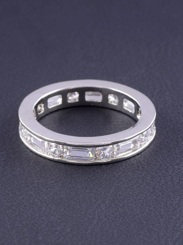 Кольцо 'big dipper' фианит (родий) 0558860