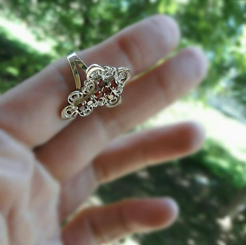 Кольцо серебро - Фото 2
