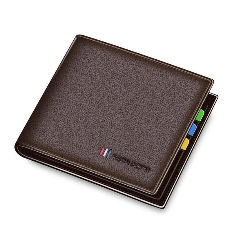 Кожаный мужской коричневый кошелек натуральная кожа