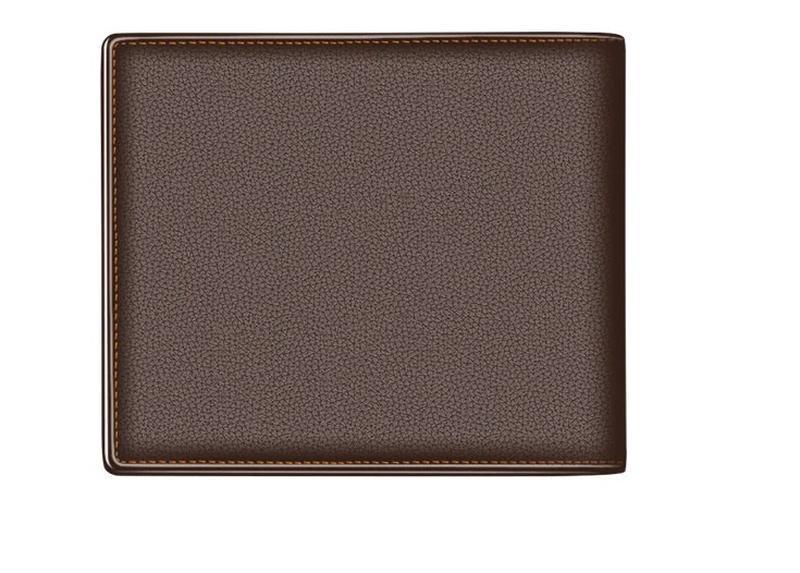 Кожаный мужской коричневый кошелек натуральная кожа - Фото 3