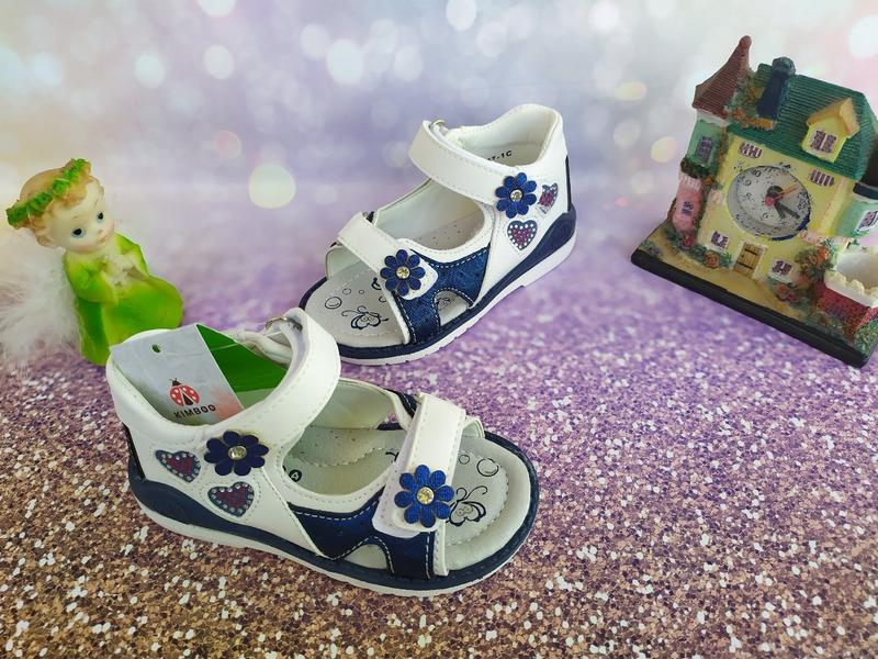 Босоножки для принцесс сине белые
