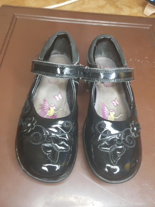 Туфли clarks лак мегающие