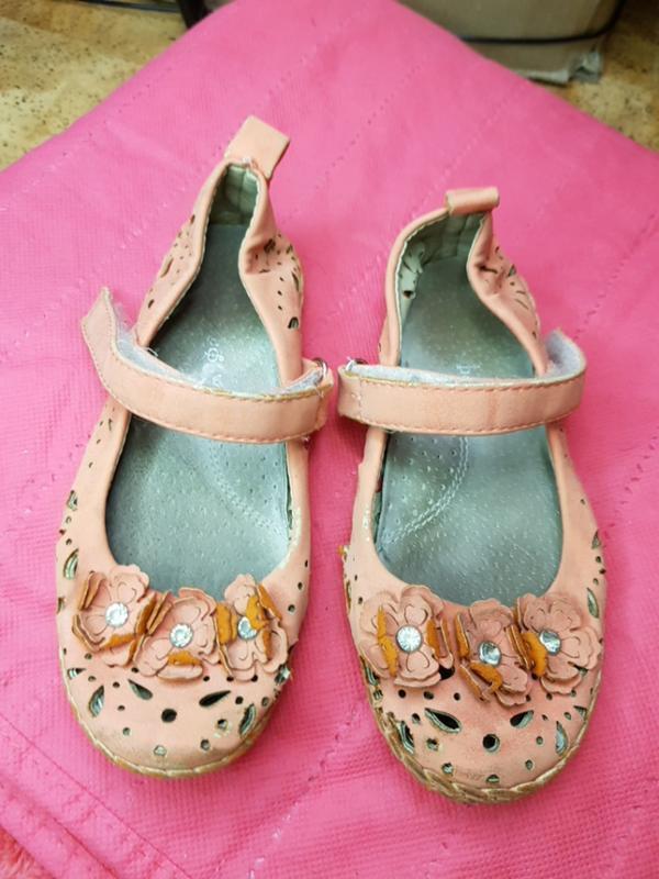 Туфли летние цветочки
