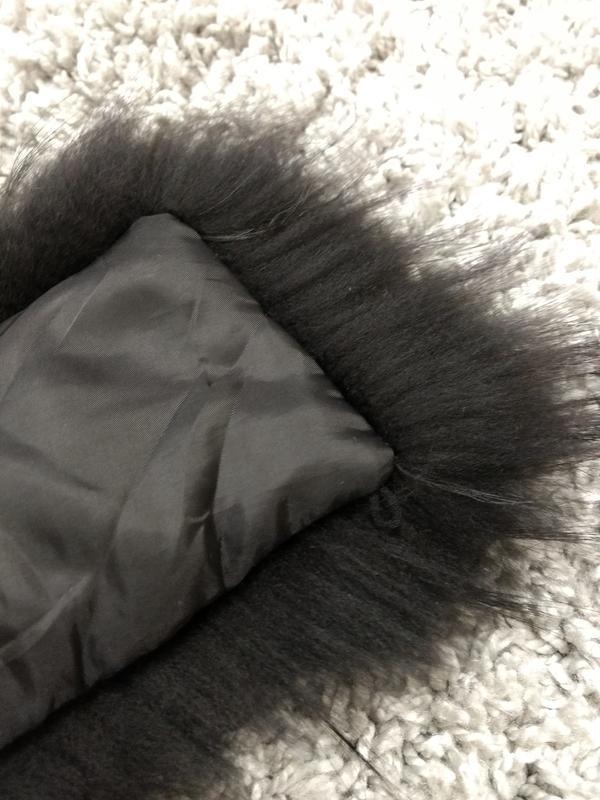 Шикарная опушка воротник на капюшон мех енота - Фото 6