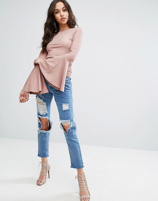 Плиссированная блуза. блуза расклешенный рукав
