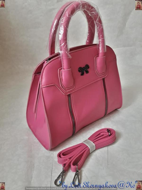Новая с юбркой фирменная сумка в розовом цвете среднего размера - Фото 2