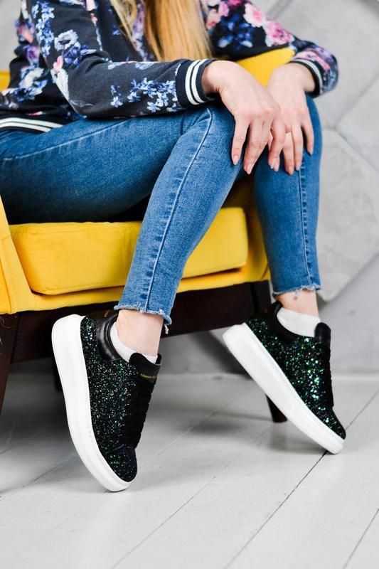 Шикарные женские эксклюзивные кроссовки alexander mcqueen 😍 (в... - Фото 4