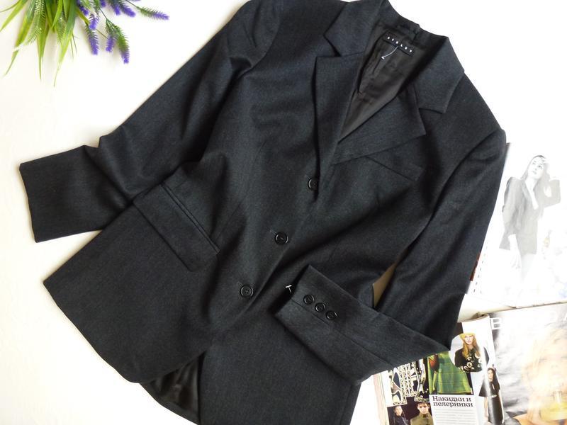 Шерстяной офисный пиджак - Фото 2