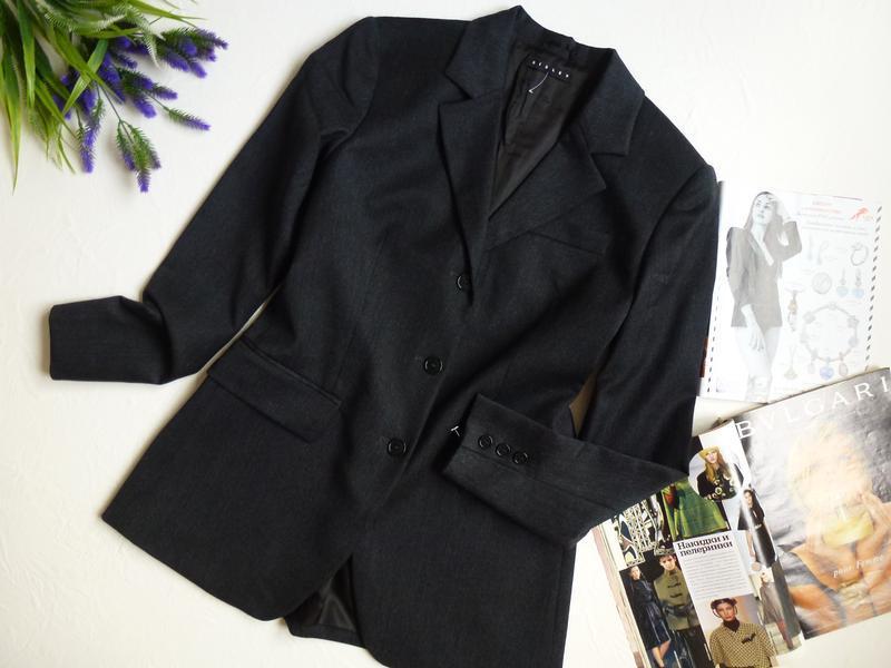 Шерстяной офисный пиджак - Фото 4