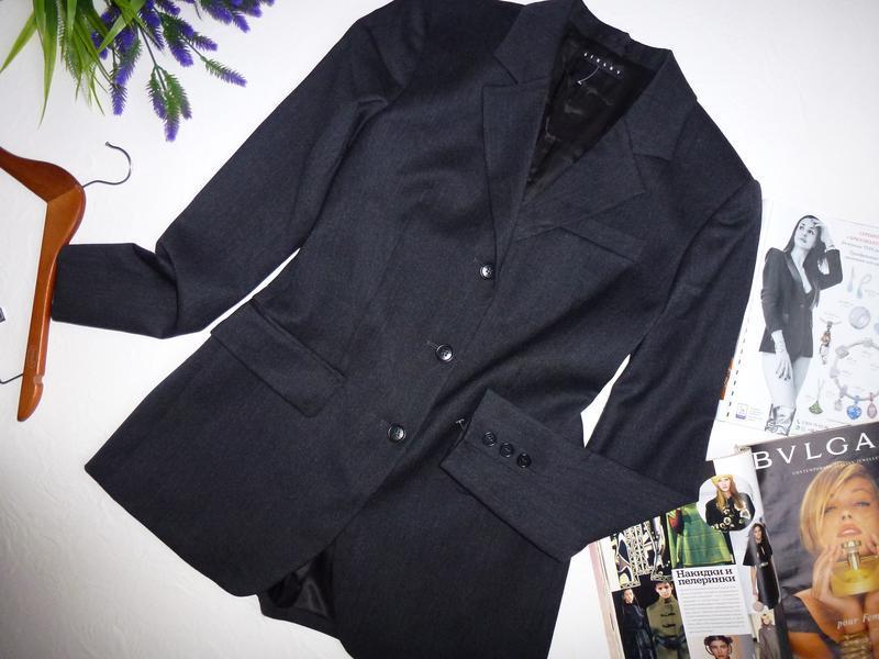 Шерстяной офисный пиджак - Фото 7