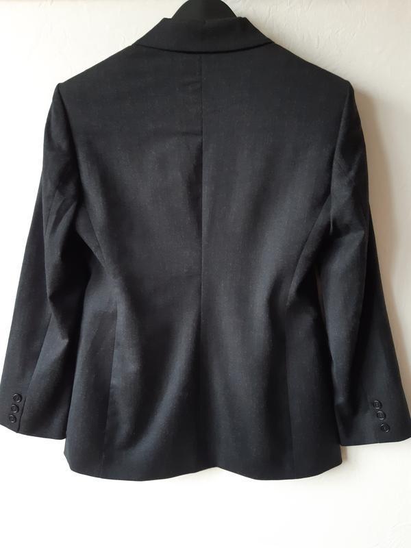 Шерстяной офисный пиджак - Фото 8