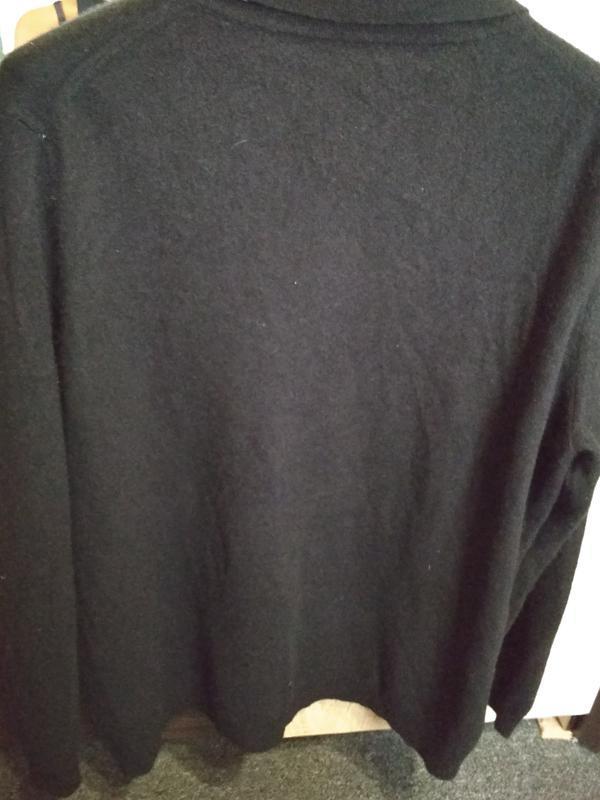 Кашемировый свитерок с воротником и пуговками, идеальный, р. 46 - Фото 3