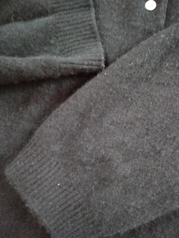 Кашемировый свитерок с воротником и пуговками, идеальный, р. 46 - Фото 5