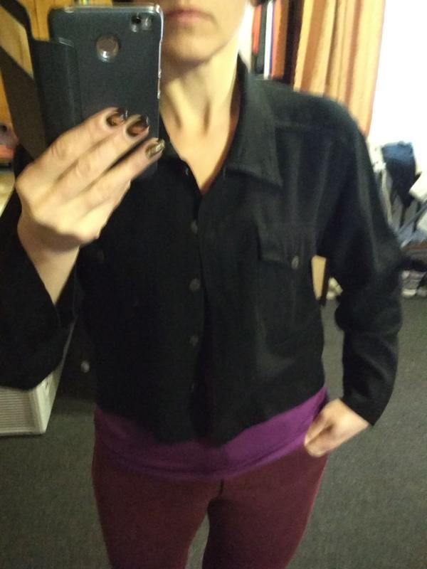 Трендовое рубашка укороченная, offshoot, p. m/l - Фото 4