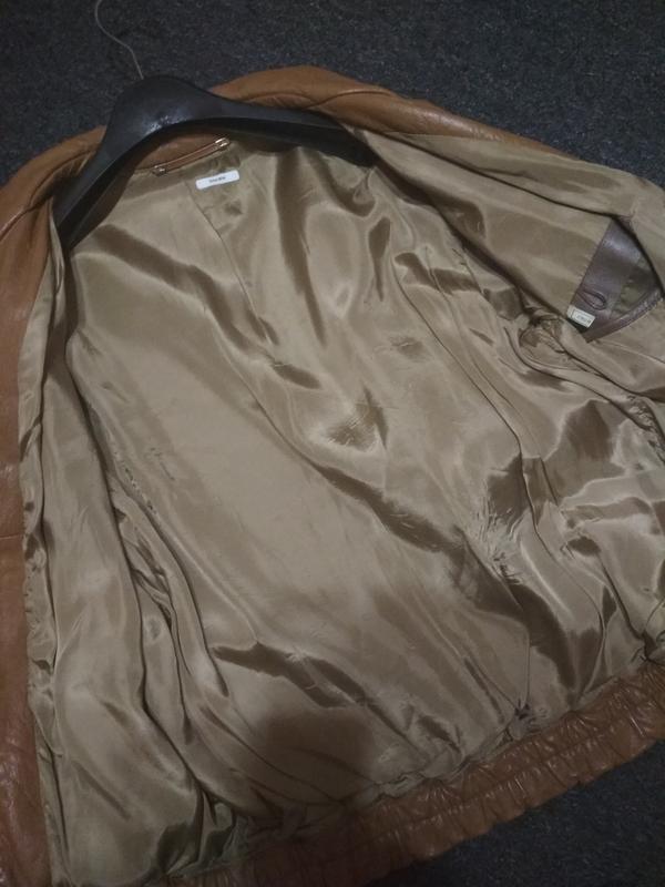 Кожаная куртка, италия, р. 46-48 - Фото 4