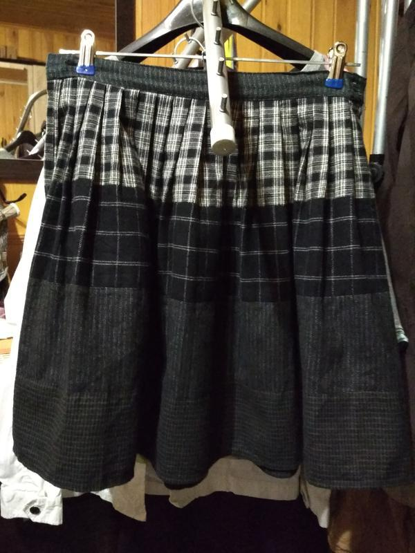 Актуальная юбка в складку, катон,р. 6-8 - Фото 4