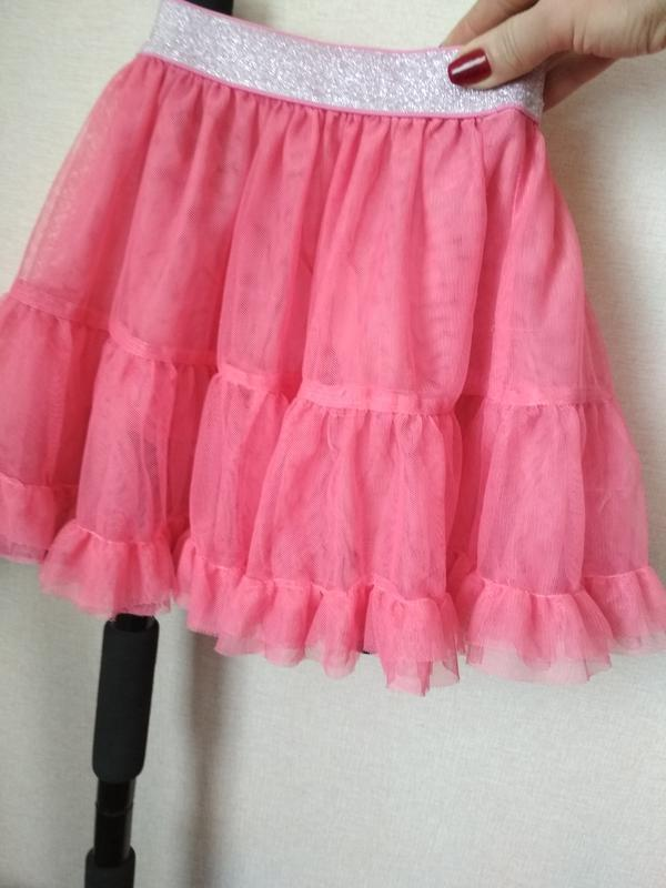 Шикарная фатиновая юбочка на 2-4 года - Фото 3