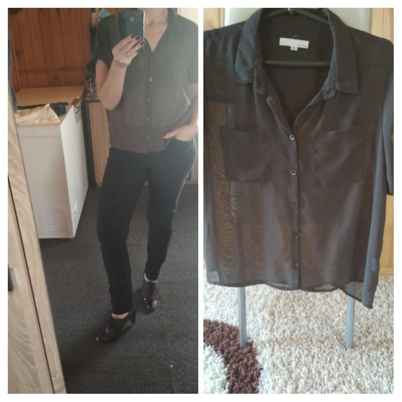 Шифоновая блуза,темно коричневый цвет,suit, p.m-l