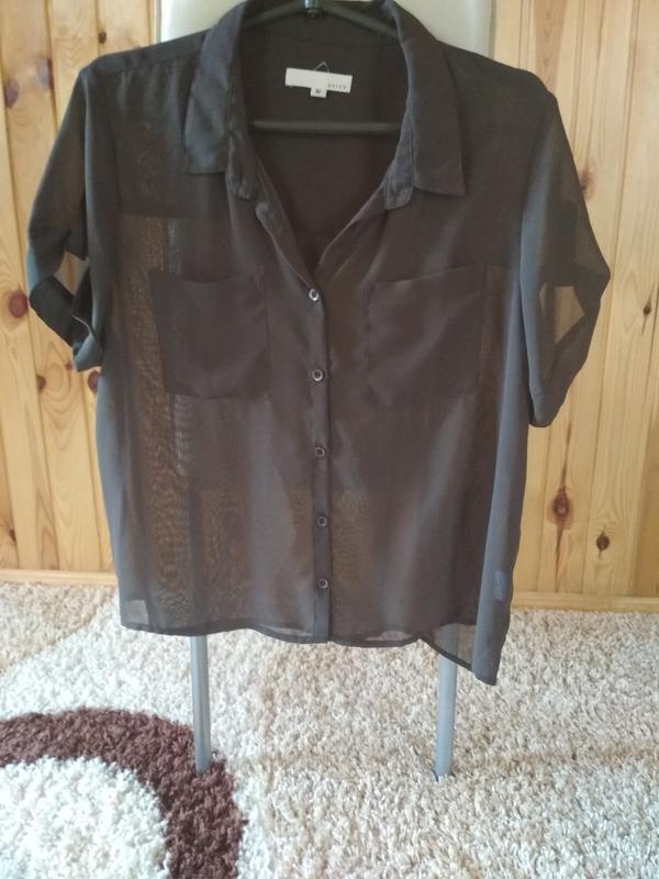 Шифоновая блуза,темно коричневый цвет,suit, p.m-l - Фото 5