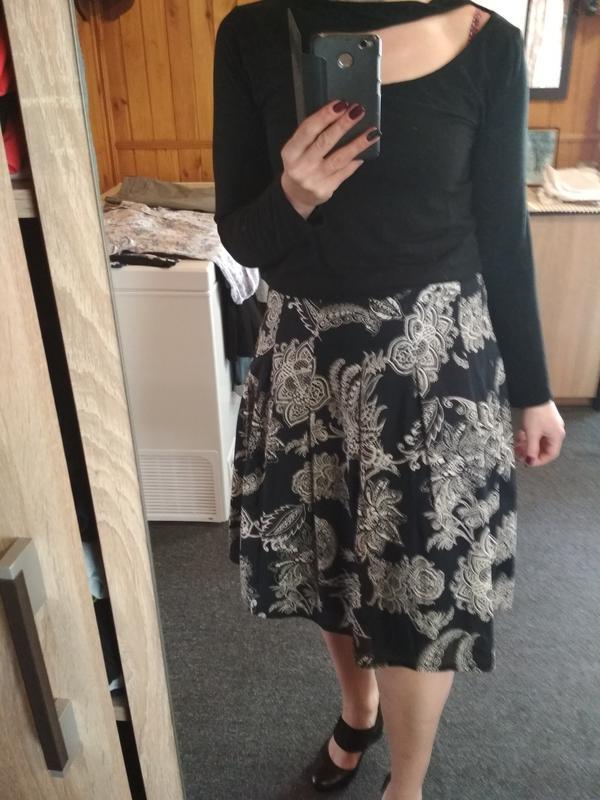 Красивая юбка миди ,катон очень нежный, in linea р36/38 - Фото 2