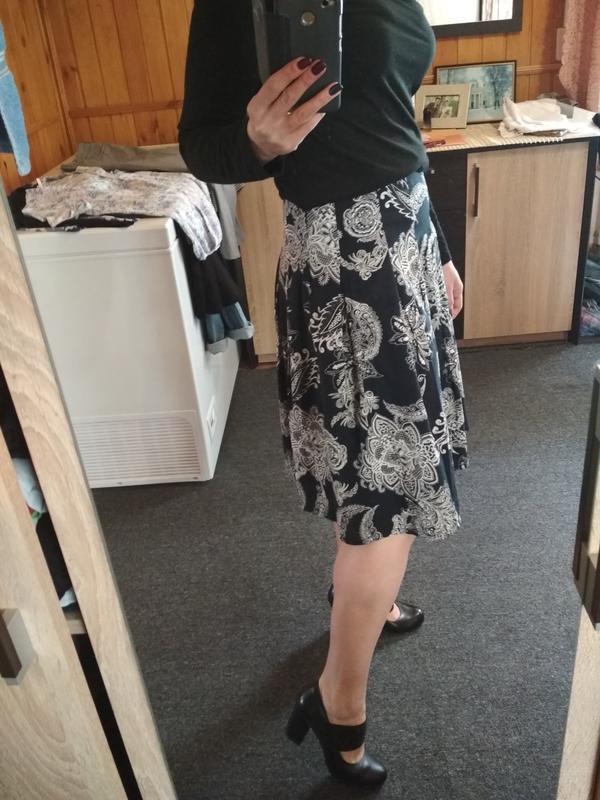 Красивая юбка миди ,катон очень нежный, in linea р36/38 - Фото 3