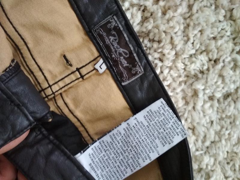 Юбка мини , кожзам, идеальное состояние, р. 40 - Фото 4