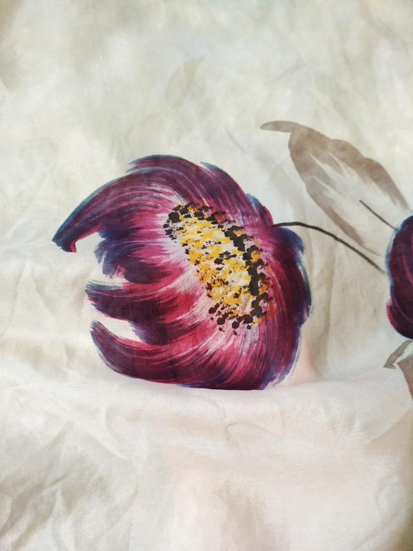 Нежный шелковый платок, 72*74 - Фото 3