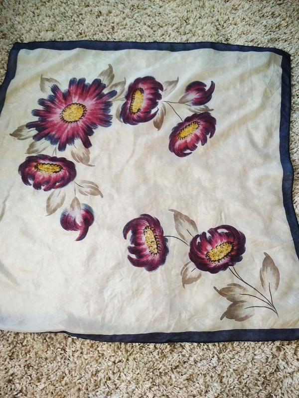 Нежный шелковый платок, 72*74 - Фото 4