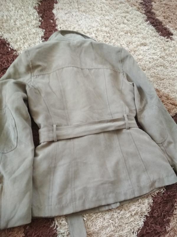 Стильная куртка ветровка косуха, екозамш,camaieu, p. 38/40 - Фото 3