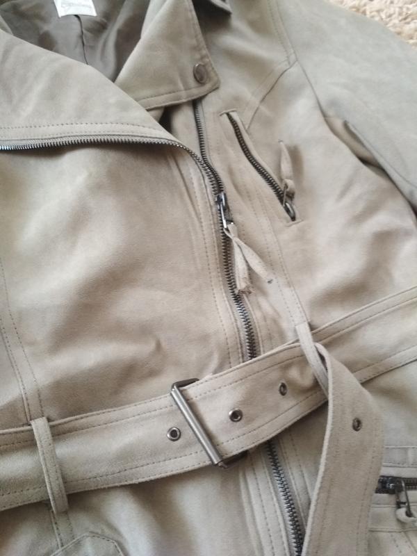 Стильная куртка ветровка косуха, екозамш,camaieu, p. 38/40 - Фото 4