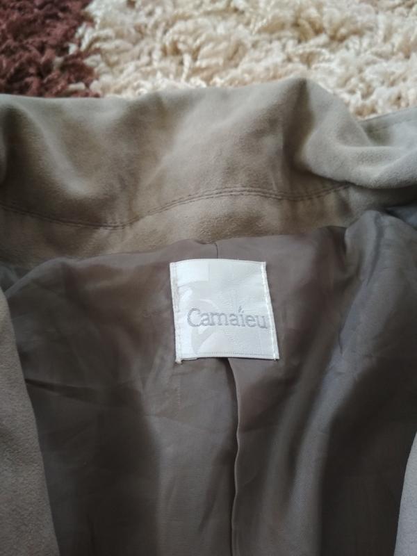 Стильная куртка ветровка косуха, екозамш,camaieu, p. 38/40 - Фото 5