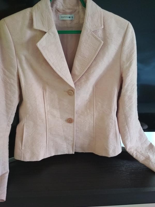Шикарные пиджак в ньюдовом цвете, comma, p. 38/40 - Фото 3