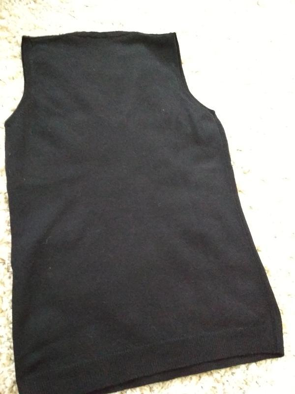 Актуальная стильная шерстяная жилетка, sisley италия, р. 8-10 - Фото 2
