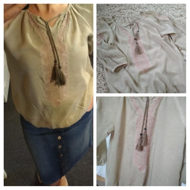 Стильная блуза вышиванка, р. 8-12