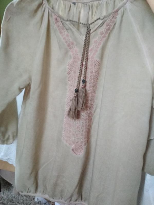 Стильная блуза вышиванка, р. 8-12 - Фото 2