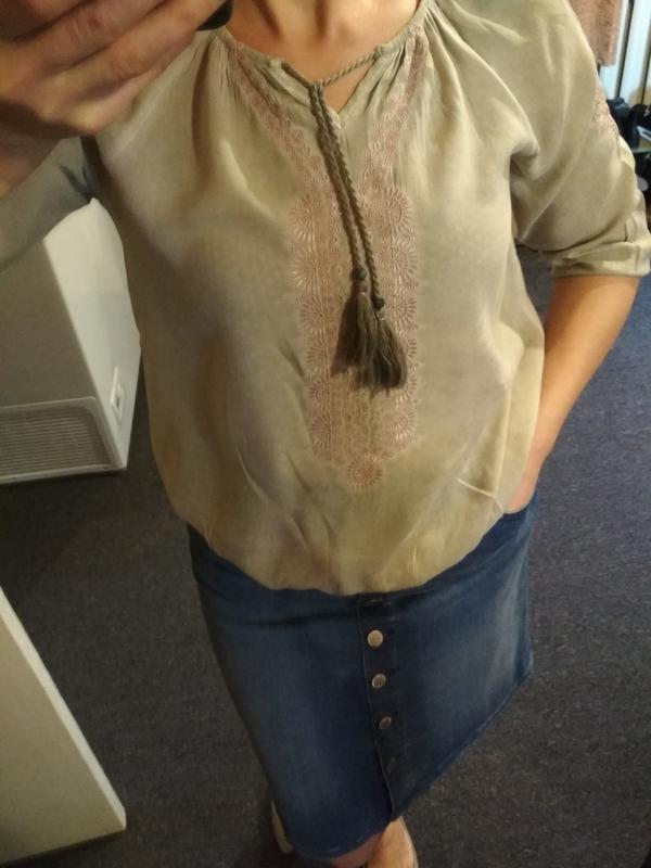 Стильная блуза вышиванка, р. 8-12 - Фото 3