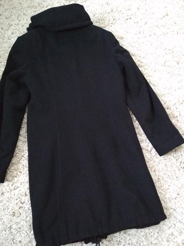 Классическое чёрное шерстяное пальто, новое, charles voegele, ... - Фото 2