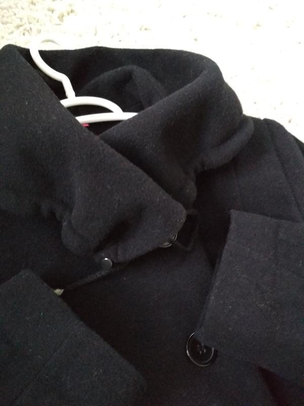 Классическое чёрное шерстяное пальто, новое, charles voegele, ... - Фото 3