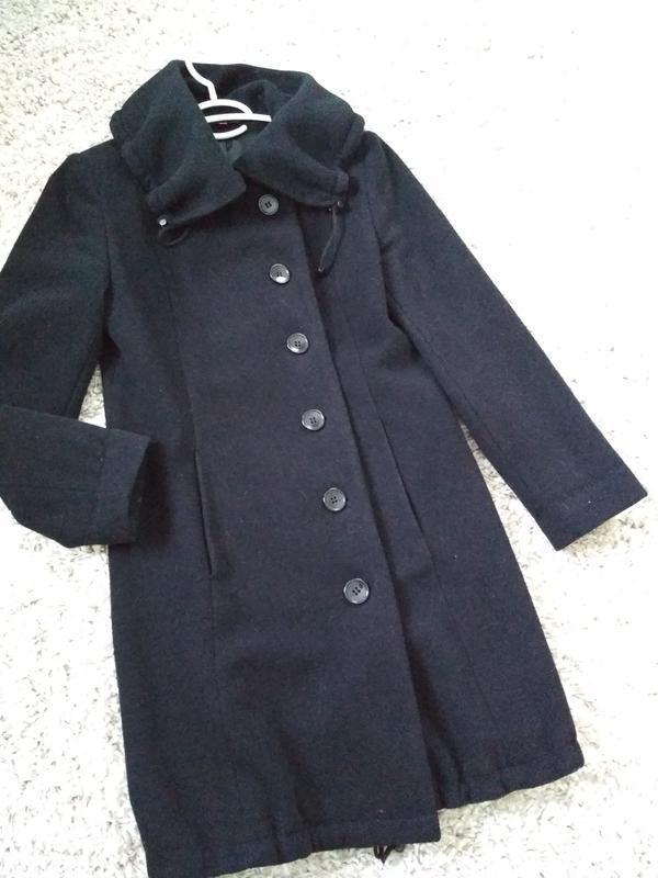 Классическое чёрное шерстяное пальто, новое, charles voegele, ... - Фото 4