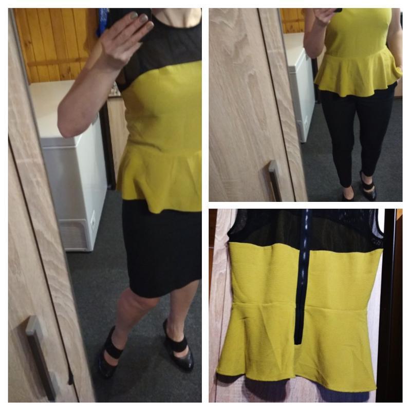 Оригинальная стильная блуза с баской,h&m, 12-14