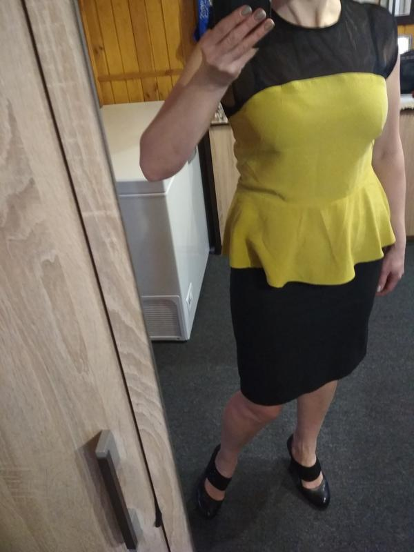 Оригинальная стильная блуза с баской,h&m, 12-14 - Фото 4