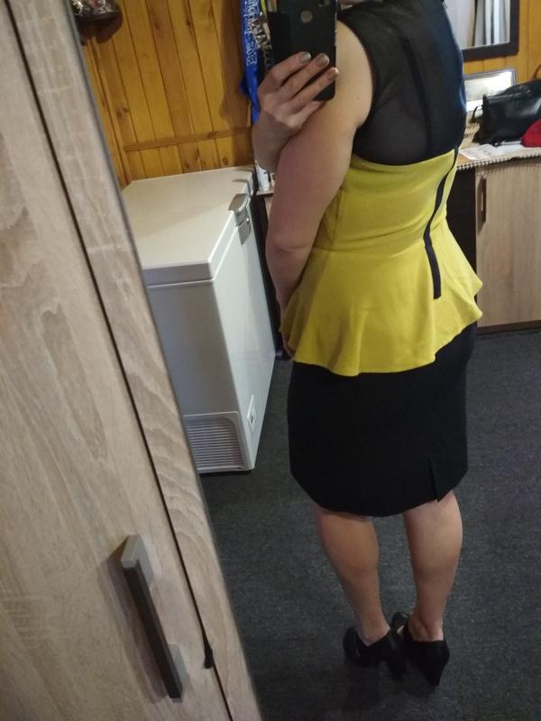 Оригинальная стильная блуза с баской,h&m, 12-14 - Фото 8