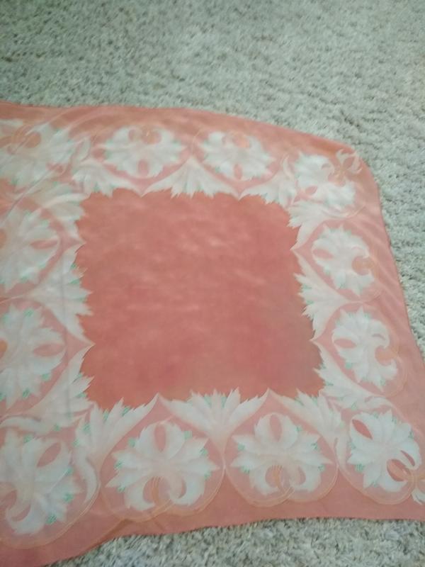 Нежный красивый шелковый платок, 80*83 - Фото 5