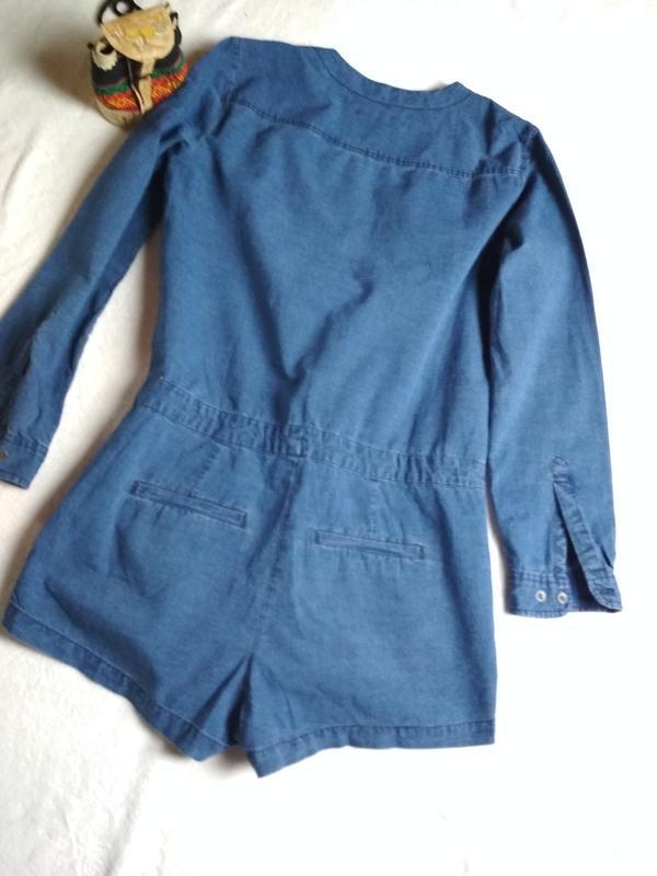 Стильный джинсовый комбинезон ромпер, abercrombie &fitch,p. 10-12 - Фото 2