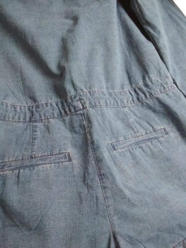 Стильный джинсовый комбинезон ромпер, abercrombie &fitch,p. 10-12 - Фото 8