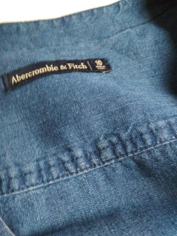 Стильный джинсовый комбинезон ромпер, abercrombie &fitch,p. 10-12 - Фото 9
