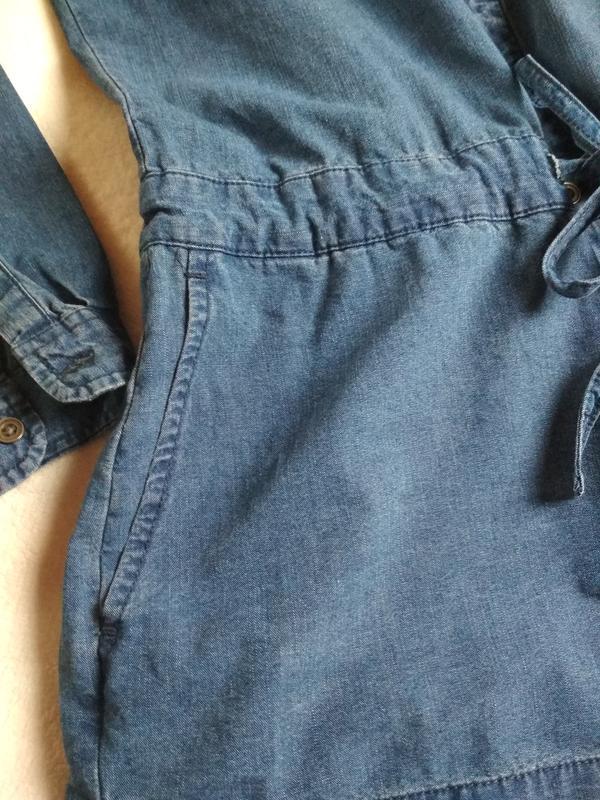 Стильный джинсовый комбинезон ромпер, abercrombie &fitch,p. 10-12 - Фото 10