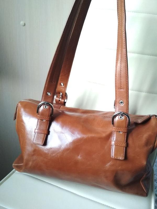 Красивая  вместительная кожаная сумка,disser - Фото 2